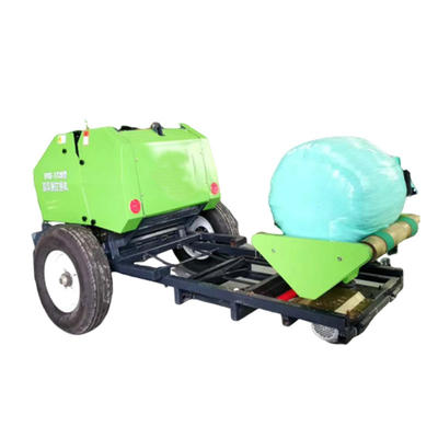 Fully automatic silage baler and wrapping film machine