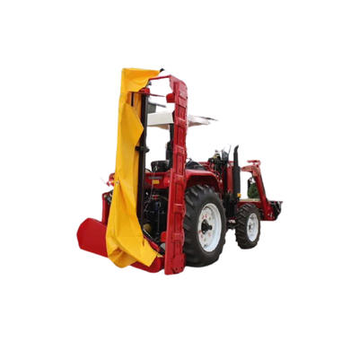 Rear mounted disc mowers with hydraulic suspension